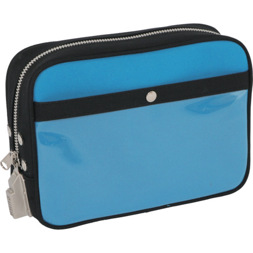 SANEI 帆布メール用ポーチ(M)SED-1錠付 ブルー PMSED09