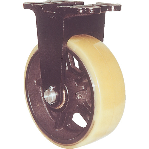 いいスタイル ヨドノ 鋳物重量用キャスター 許容荷重1107.4 取付穴径15mm  MUHAMK300X75:キコーインダストリアル-その他