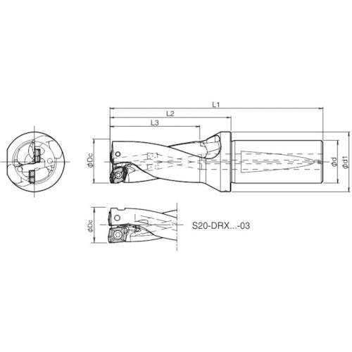 超爆安  S20DRX120M203:キコーインダストリアル 京セラ ドリル用ホルダ-その他