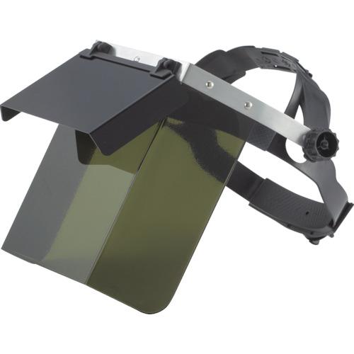 TRUSCO 遮光二重防災面 かぶりタイプ 前プレート遮光度9 TBM503W
