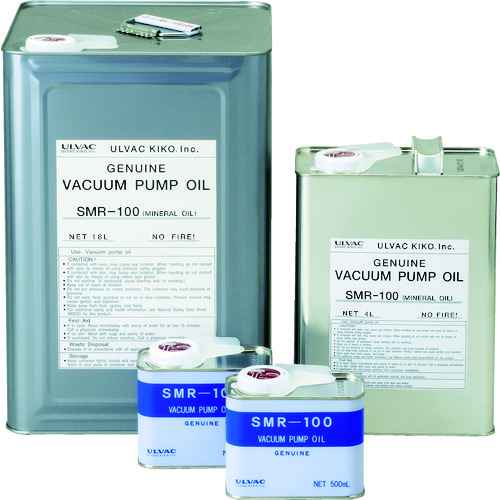 ULVAC 真空ポンプ油(SMR-100 18L缶) SMR10018L