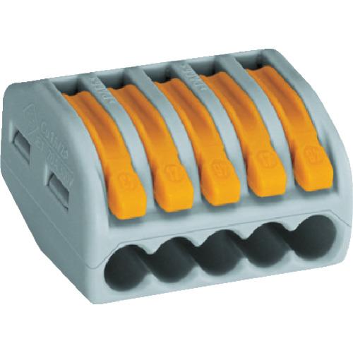 WAGO WF-5 より線・単線接続可能コネクタ 5穴用 1箱(PK)=40個入 WF5