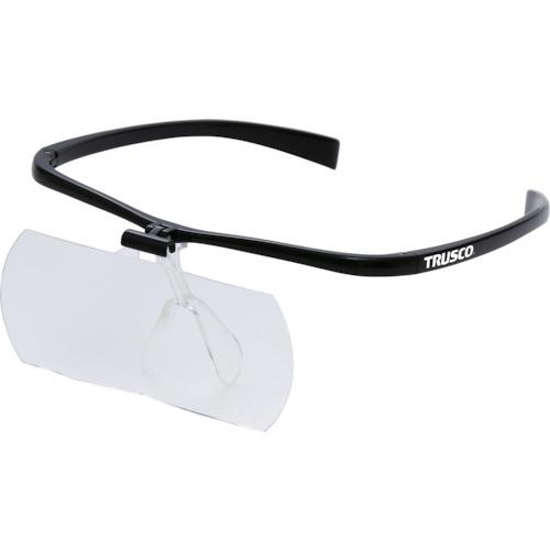 TRUSCO 双眼メガネルーペ2倍 フレーム黒 TSM2.0BK