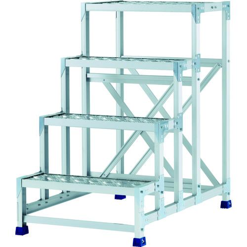 アルインコ 作業台(天板縞板タイプ)4段 CSBC4106S