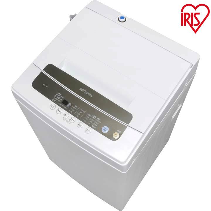 [10日限定エントリーでほぼ全品ポイント最大15倍]洗濯機 全自動洗濯機 5kg IAW-T501 洗濯 せんたく 洗濯物 全自動 せんたっき きれい キレイ 一人暮らし ひとり暮らし 小型 コンパクト 引越し 単身 新生活 ホワイト 白 すすぎ 部屋干し アイリスオーヤマ