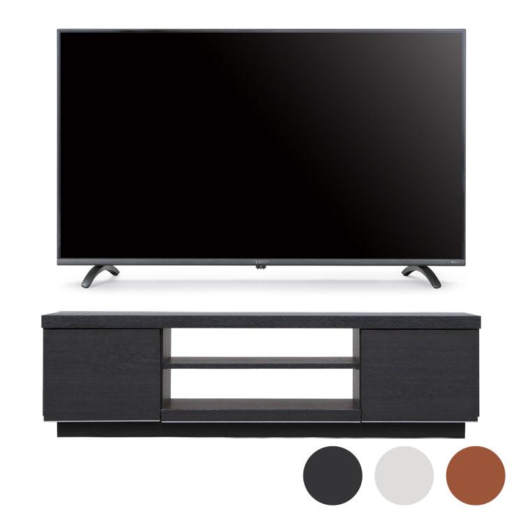 4Kテレビ 43型 音声操作 テレビ台BAB100送料無料 テレビ テレビ台 セット TV 4K 音声操作 43型 黒 引き出し アイリスオーヤマ