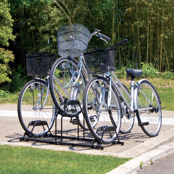 奉呈 送料無料 自転車3台収納用 自転車スタンド BYS- 自転車 収納 倉庫 片付け アイリスオーヤマ 海外輸入 掃除 自転車置き場 置き場 外庭 ベランダ ママチャリ