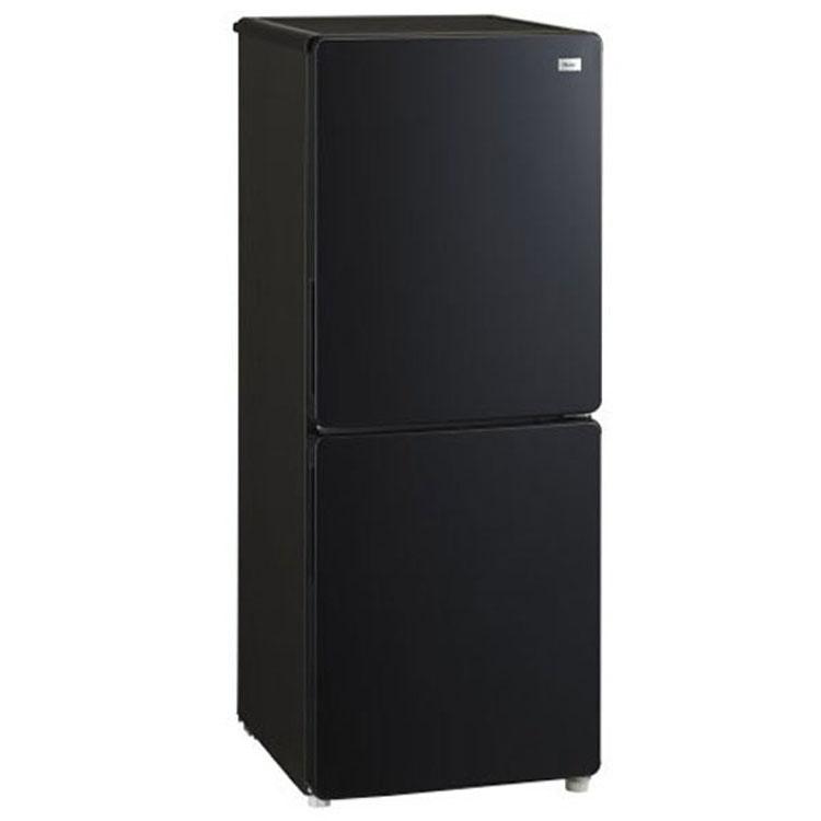 ファン式2ドア冷凍冷蔵庫148L ブラック JR-NF148B送料無料 冷蔵庫 冷凍庫 2ドア 148L ファン式 一人暮らし キッチン家電 haier ハイアール 【D】