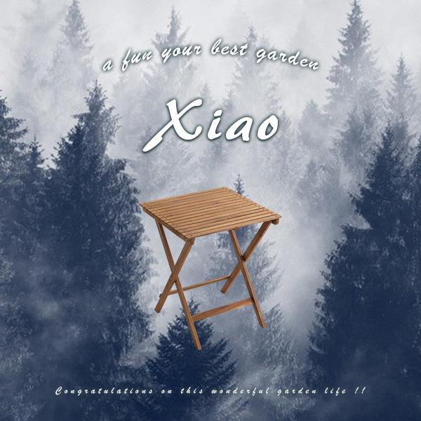 sh-01-xia-gr【送料無料】人気の折りたたみガーデンテーブル(木製)アカシア材を使用 | Xiao-シャオ-