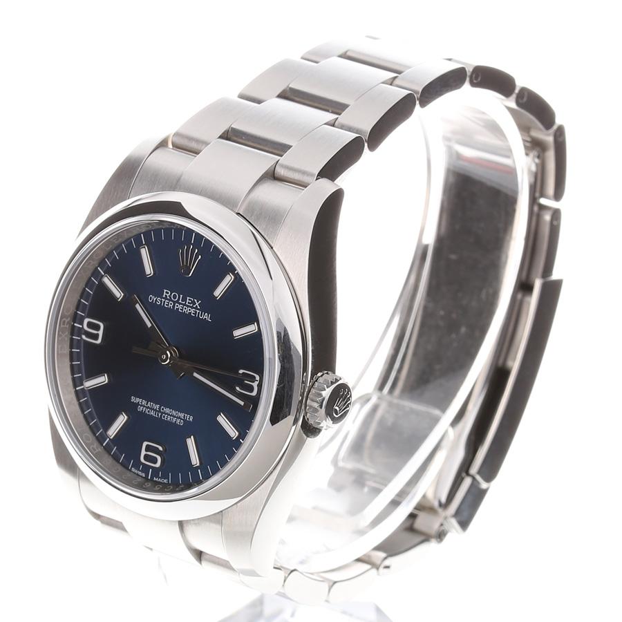 【中古】腕時計 メンズ 男性 ロレックス オイスターパーペチュアル ユーズド 中古 化粧箱付き 保証書付き 送料無料 116000