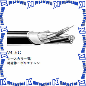 【P】【代引不可】 カナレ電気 CANARE 75Ω同軸マルチケーブル 4ch 5Cケーブル V4-5C 100m巻 高密度編組シールドタイプ [KA1387]