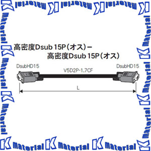 【代引不可】 カナレ電気 CANARE ビデオケーブル VESAケーブル 5VDC15-1.7CF 15m 高密度Dsub15P-高密度Dsub15P [KA0557]