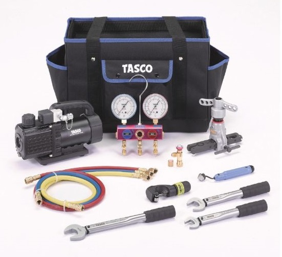 【P】【代引不可】TASCOタスコ R410A/32エアコン工具セット TA23AB [TAS5194]
