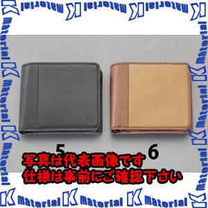 【代引不可】【個人宅配送不可】ESCO(エスコ) 110x 95x10mm 二ツ折リ財布 EA927BR-6[ESC112629]