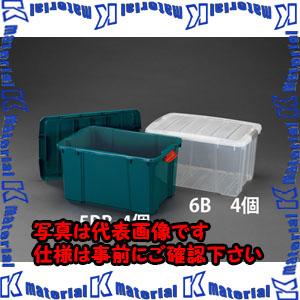 【代引不可】【個人宅配送不可】ESCO(エスコ) 636x445x355mm 収納ボックス(バックル付/クリア/4個) EA506L-6B[ESC018820]