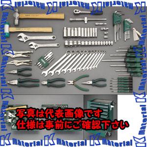 【代引不可】【個人宅配送不可】ESCO(エスコ) [89個組]ツールワゴン付工具セット(トレー入) EA689SV[ESC047872]