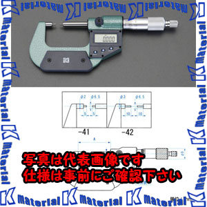 【代引不可】【個人宅配送不可】ESCO(エスコ) 0-25mm/φ3mm マイクロメーター(デジタル/細軸) EA725EH-42[ESC050728]