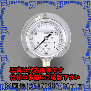 【P】【代引不可】【個人宅配送不可】ESCO(エスコ) 75mm/0-1.0MPa つば付圧力計(グリセリン入) EA729GH-10[ESC051849]