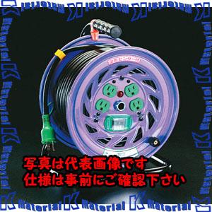 【代引不可】【個人宅配送不可】ESCO(エスコ) AC100V/15A/50m コードリール(漏電遮断器付) EA815DJ-50[ESC060843]