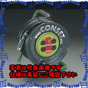 【代引不可】【個人宅配送不可】ESCO(エスコ) AC125V/15A/30m コンセント固定リール(アース付) EA815FB-30[ESC060891]