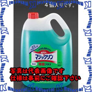 【代引不可】【個人宅配送不可】ESCO(エスコ) 4.5Lx4個 客室厨房洗剤プラス除菌(マジックリン) EA922KA-8D[ESC074898]