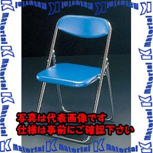 【代引不可】【個人宅配送不可】ESCO(エスコ) 折畳み椅子(ブルー) EA956XE-11[ESC097851]