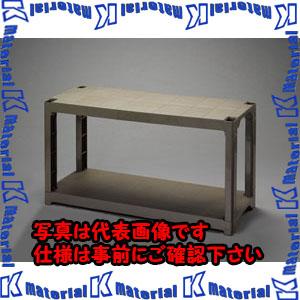 P 代引不可 個人宅配送不可 ESCO エスコ 1200x450x 658mm ESC100310 EA976AL-32 P.P製 ラック棚 OD色 高品質 中古 2段