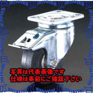 【代引不可】【個人宅配送不可】ESCO(エスコ) 100mm キャスター(自在金具・後輪ブレーキ付) EA986HJ-1[ESC104590]