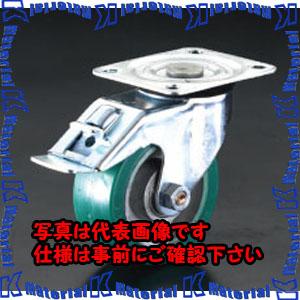 【P】【代引不可】【個人宅配送不可】ESCO(エスコ) 160mm キャスター(自在金具・後輪ブレーキ付) EA986JK-3[ESC104746]
