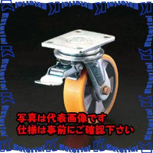 【代引不可】【個人宅配送不可】ESCO(エスコ) 200mm キャスター(自在金具・前輪ブレーキ付) EA986KK-200[ESC104844]