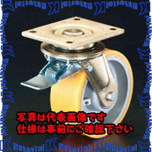 【代引不可】【個人宅配送不可】ESCO(エスコ) 150mm キャスター(自在金具・前輪ブレーキ付) EA986KR-1[ESC104864]