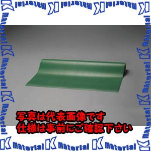 【代引不可】【個人宅配送不可】ESCO(エスコ) 1.0x5.0m/3.0mm ゴムマット(筋入・緑) EA997RA-5[ESC108863]
