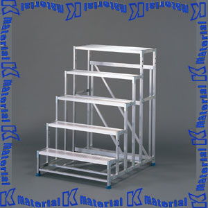【P】【代引不可】長谷川工業 組立式作業台 ライトステップ 5段 天板高1.50m DB2.0-5 16826 [HS0334]