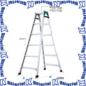 【P】【代引不可】長谷川工業 はしご兼用脚立 ステップ幅60mm 天板高1.70m RS2.0-18 16346 [HS0012]