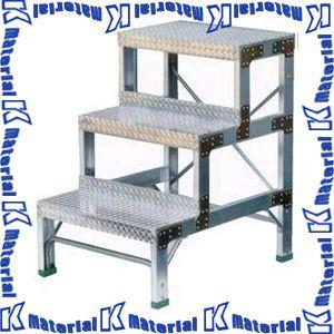 いいスタイル 【P】【】【個人宅配送】ナカオ [NK0078]:k-material 作業用踏台 G-123 3段 全高1.2m-DIY・工具