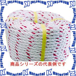 【P】【代引不可】【個人宅配送不可】育良精機 イクラクロスロープ アラミド繊維ロープ 12打 径8mm 長さ200m 32.5kN 20216 [IKR062]