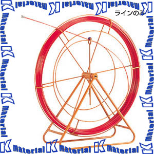 【P】JEFCOM ジェフコム RG-0830 地中線工具 ファイバーレッドライン φ8 300m 線のみ DENSAN デンサン [JEF0075]