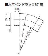 【代引不可】【個人宅配送不可】未来工業 SRA-CH30-80 1枚 アルミカバー 水平ベンドラック30°用 [MR13787]