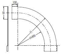 【P】【代引不可】【個人宅配送不可】未来工業 SRA-CH90-100 1枚 アルミカバー 水平ベンドラック90°用 [MR13805]