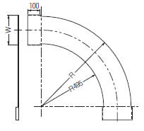 【代引不可】【個人宅配送不可】未来工業 SRA-CH90-30 1枚 アルミカバー 水平ベンドラック90°用 [MR13807]