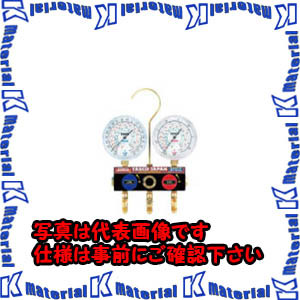 【P】【代引不可】TASCOタスコ ボールバルブ式ゲージマニホールド TA124W-1 [TAS0236]