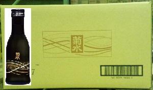 菊水黒瓶 180ml【新潟清酒】【晩酌酒】【業務用】【一合瓶1箱30本入り】【送料1ケース毎にかかります】【完全取り寄せ品】