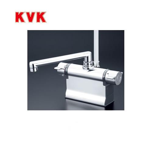 [KF3011T]KVK 浴室水栓 シャワー水栓 サーモスタットシャワー金具 デッキ形(台付き) 190mmパイプ仕様 逆止弁 可変ピッチ式 取付穴径(mm):φ22~φ24 蛇口 【送料無料】 デッキタイプ おしゃれ