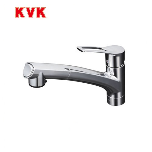 [KM5021ZJT]KVK キッチン水栓 流し台用シングルレバー式シャワー付混合栓 ワンホールタイプ 寒冷地用 【送料無料】 おしゃれ