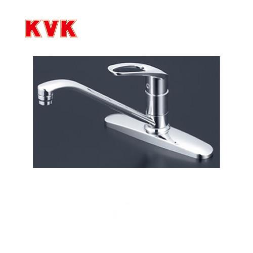 [KM5091T]KVK キッチン水栓 キッチン用水栓 シングルレバー式混合栓 流し台用 泡沫 逆止弁 【送料無料】 蛇口 キッチン水栓金具 ツーホールタイプ 2穴 おしゃれ