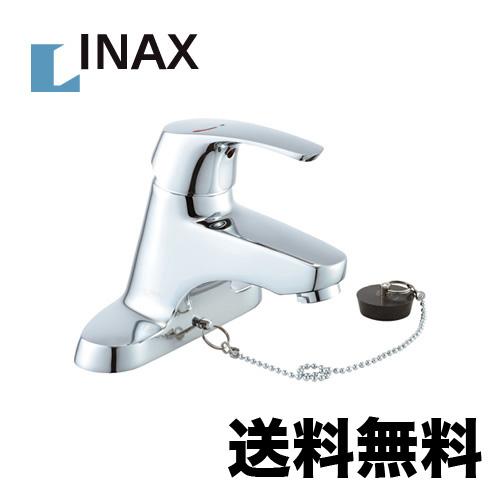 【送料無料】[LF-B355SY] INAX イナックス LIXIL リクシル 洗面水栓 ツーホールタイプ(台付き) シングルレバー 混合水栓 ビーフィット(エコハンドル) ゴム栓式 センターセットタイプ 洗面 水栓 洗面台 洗面所 混合水栓 蛇口 おしゃれ