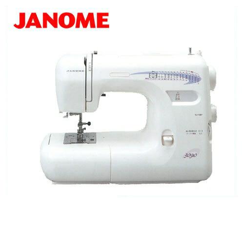 [JNM-3090]【メーカー直送のため代引不可】 ジャノメ ミシン model3090 一般用ミシン 模様数14種類+ボタンホール3種類 フットコントローラー式ミシン スピーディー糸通し ジャノメミシン 本体 【送料無料】