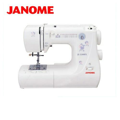 [JNM-JE3200EX]【メーカー直送のため代引不可】 ジャノメ ミシン JE-3200EX 一般用ミシン 模様数12種類+ボタンホール3種類 電子ミシン カンタン糸通し ジャノメミシン 本体 【送料無料】