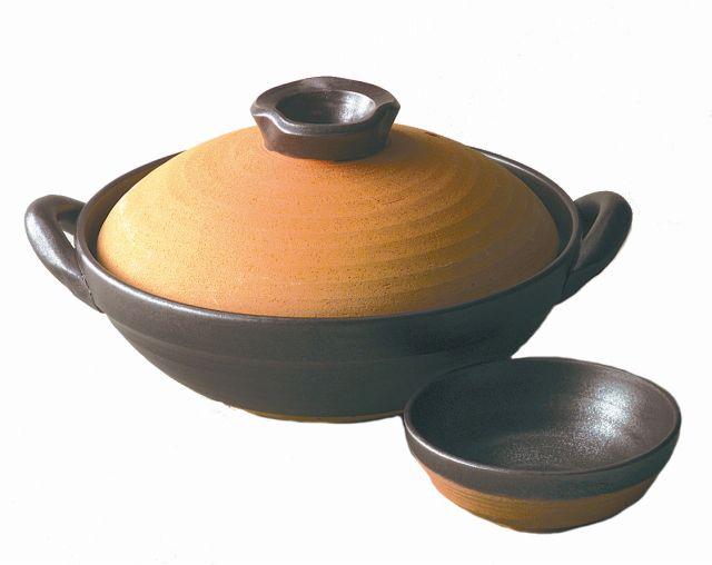 土鍋/ 黒暖9.0京型鍋 /おしゃれ 業務用 家庭用