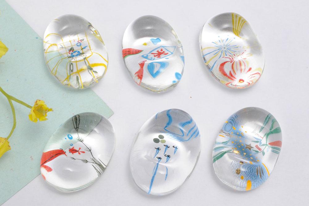 箸置き インテリアにもなる綺麗な箸置き 着後レビューで 送料無料 超激安 カトラリーレスト ガラス ガラスの箸置き 6種類 贈り物 ギフト プレゼント
